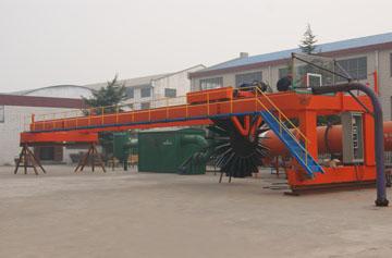 通达重工12米槽式有机肥翻抛机现场